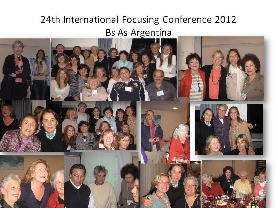 24th International Focusing Conference 2012